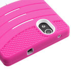 For ZTE ZMAX Z970 Hard Case +Rugged Silicone Case Cover w/Stand