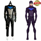 Young Justice S2 Nightwing Robin Cosplay Costume Halloween Adult Outfit Mask&
