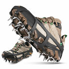 Ice Snow Cleats Grips for Boot Shoes Anti Slip 18 Crampons Spikes Walking Hiking