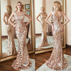 US Ever-Pretty Double V-Neck Sequin Mermaid Party Evening Dresses Cocktail Gowns