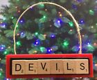 New Jersey Devils Christmas Ornament Scrabble Tiles Magnet $8.99 USD on eBay