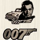 James Bond 007 Big Patch Sean Connery Goldfinger Aston Martin Car Embroidered $29.99 USD on eBay