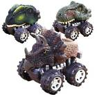 4PCS Mini Dinosaur Cars Pull Back Vehicle Set Animal Car Boys Toy Birthday Gift!