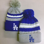Los Angeles Dodgers Pom Pom Beanie Skull Cap Hat Embroidered LA LAD on Ebay