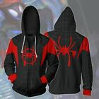 Into the Spider-Verse Miles Morales Spiderman Jacket Costume Hoodie Sweatshirt