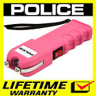 POLICE Stun Gun PINK 928 550 BV Heavy Duty Rechargeable LED Flashlight