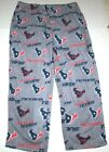 Nwt New Houston Texans Logo NFL Football Sleepwear Sleep Pants Soft Fleece Men $21.99 USD on eBay