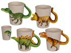 Dinosaur Ceramic Mug with Dinosaur body handle - Coffee Tea Novelty Gift Xmas