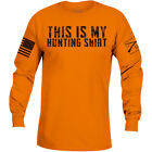 Grunt Style This Is My Hunting Shirt Long Sleeve T-Shirt - Orange