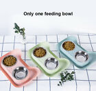 Double Food Non Spill Cat Feeding Bowl Stainless Steel Pet Easy Clean Feeder
