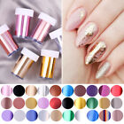 Rose Gold Silver Mirror Nail Foils Holographic Nail Art Transfer Stickers Decals