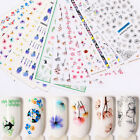 Nail Water Decals Transfer Stickers Colorful Flowers Nail Tips Decorations