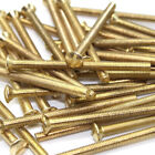 M3.5 ELECTRICAL FRONT PLATE SCREWS M3.5 x 50mm BRASS PLATED SLOTTED SCREWS