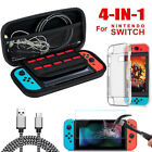 For Nintendo Switch Carry Case Hard Bag Cover Charge Cable Protector Accessories