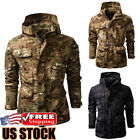 Men's Waterproof Jacket Hooded Soft Shell Outdoor Military Tactical Coat Parka