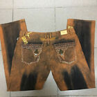 NWT Mens Robin Jeans with Studs Crystals Yellow Color Pants size 32-42 Men Jean