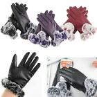 Women Leather Gloves Motorcycle Three Finger Touch Screen Driving Winter Warm $6.99 USD on eBay