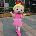 2# Unisex Pig Mascot Costume Cosplay Dress Outfit Advertising Halloween Adult 1p