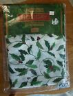 """New Tobin Christmas Holly Leaves & Berries 52x70"""" Holiday Tablecloth  retail 17."""