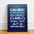 Gaming Wall Art Boys Bedroom Prints / Gamer Accessories / Novelty Gift For Boys