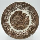 Thomas Hughes & Son Avon Cottage Bread Butter Plate(s) Brown Transferware