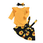 Newborn Infant Baby Girl Romper Sunflower Jumpsuit Summer Outfit Clothes Dress