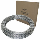 10M/65M Galvanised Barbed Razor Wire Steel Security Fencing Farm Concertina Barb