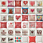 Happy Valentine's Day Throw Pillow Case Love Cushion Cover Romantic Wedding Gift