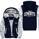US STOCK Men's Dallas Cowboys Hoodie Zip up Jacket Coat Winter Warm $25.99 USD on eBay