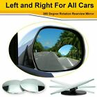 2 Pack Car Blind Spot Mirror Adjustable Wide Angle 360 Rotation Convex Rear View