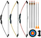 "CPTARCH 32"" Archery Compound Bow and Arrow Set Two-Wheeled Bow for Kids Youth"