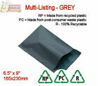 GREY RECYCLED Mailing Postal Packaging Bags 6.5
