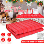 220V Queen Size Electric Heated Flannel Blanket 3 Gear Warm Winter Cover Heater image