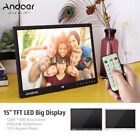 8/10/12/15/18 ' HD LED Digital Photo Picture Frame Electronic Album Clock+Remote