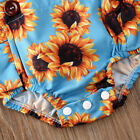 2PCS Newborn Baby Girl Summer Clothes Set Sunflower Romper Jumpsuit Outfits US