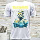 NWT IRON MAIDEN ROCK METAL BAND MUMMY GRAPHIC MEN'S WHITE T-SHIRT SIZE S M L XL image