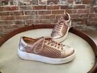 Steve Madden Napa Natural Comfort Rose Gold Leather & Mesh Lace up Sneakers Sale