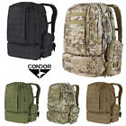 Condor Black Tactical Hiking 3 Day Mission MOLLE PALS Assault Backpack Pack 125