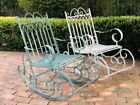 Quality French Country Style Scrolls Iron Rocking Chair Garden Patio Balcony