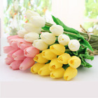 Tulips Artificial Flower Latex Real Touch Bridal Bouquet Wedding Home Decor Usa