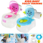 US 2In1 Kid Baby Toilet Trainer Child Toddler Potty Training Seat Chair Bathroom image