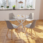 Garden Table And 2 Chairs Set With Tulip Legs Retro Outdoor Patio Furniture
