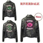 Women PU Leather Jacket Motorcycle Coat South Side Serpents Riverdale Snake Gang