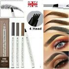 MKING Microblading Pen Tattoo Eyebrow 3D liquid Ink 4 fork pencil water proof UK