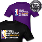 KOBE Bryant LA Basketball Heroes N Legends Mamba #8 #24 Retirement T-Shirt SM-6X image