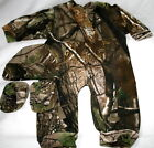 Realtree Camo Baby Sleeper Hat Booties, Camouflage Boys Creeper Set