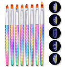 UV Gel Nail Drawing Brush Colorful Acrylic Painting Pen Nail Art Decoration Tool