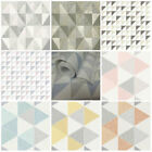 Geometric Triangles Wallpaper - Angle Decor - Modern Contemporary 3 D Effect