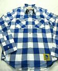 Levi's Mens Golden State Warriors NBA Western LS Button Up Shirt Blue Plaid NWT on eBay