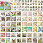 Spring Easter Bunny Egg Pillow Case Throw Cushion Cover Car Home Sofa Decoration